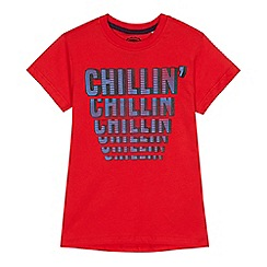 bluezoo - Boys' red 'Chillin' print t-shirt