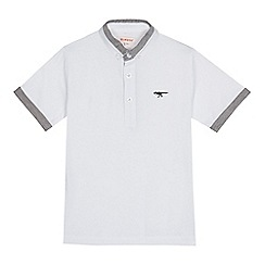 bluezoo - Boys' white chambray trim polo shirt