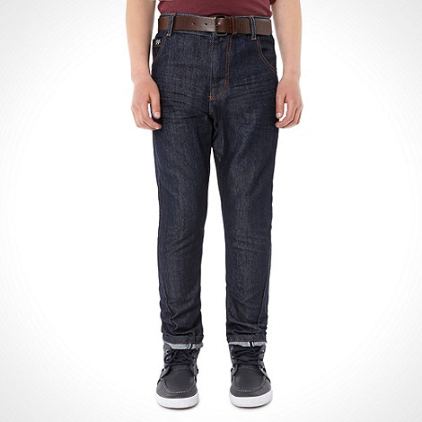 J by Jasper Conran - Boy+s navy smart jeans