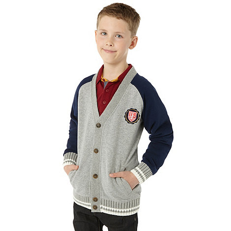 J by Jasper Conran - Boy+s grey baseball sweat jacket