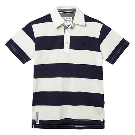 J by Jasper Conran - Boy+s blue striped rugby shirt