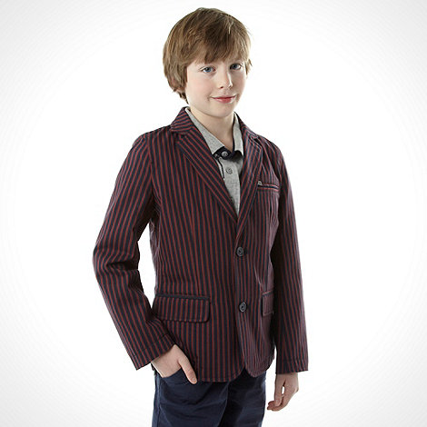 J by Jasper Conran - Boy+s red striped blazer
