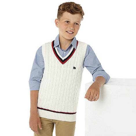 J by Jasper Conran - Boy+s multi knitted tank top and shirt set
