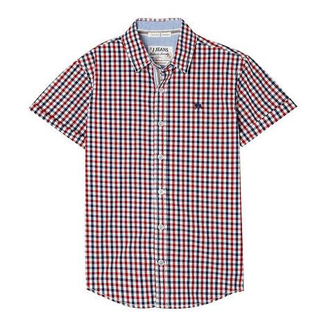 J by Jasper Conran - Boy+s red checked shirt