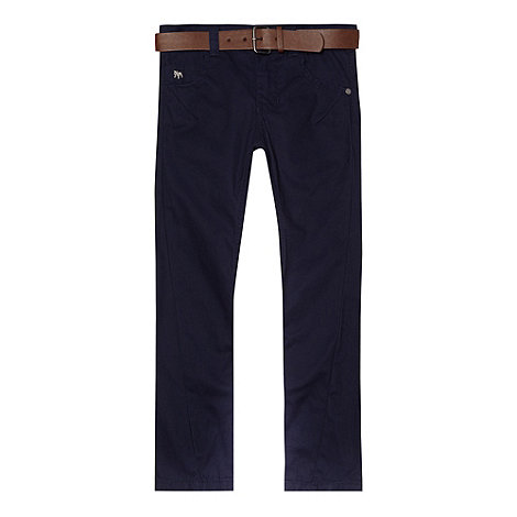 J by Jasper Conran - Boy+s navy twisted chinos