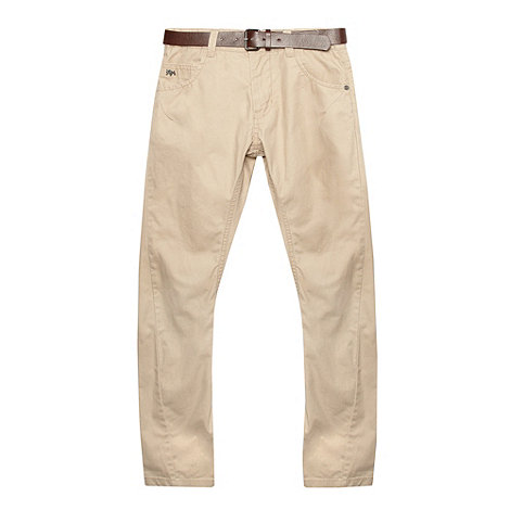 J by Jasper Conran - Designer boy+s natural twisted belted chinos