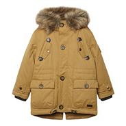Boy's light brown parka