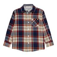 Boy's blue long sleeved checked shirt