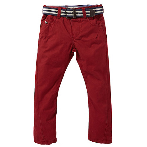 J by Jasper Conran - Boy+s red chino trousers