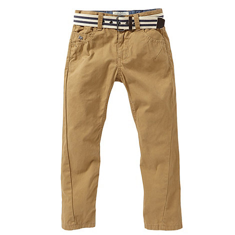 J by Jasper Conran - Boy+s brown chino trousers