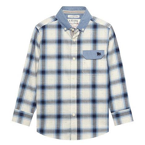 J by Jasper Conran - Boy+s blue checked shirt