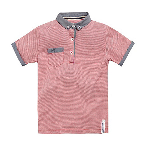 J by Jasper Conran - Designer boy+s red striped polo shirt