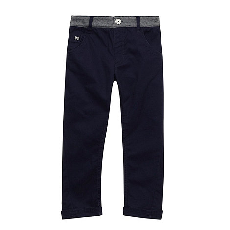 J by Jasper Conran - Boy+s navy jersey waistband chinos