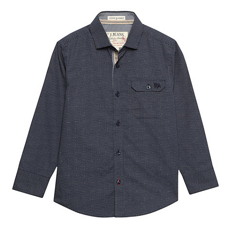 J by Jasper Conran - Boy+s blue polka dot shirt