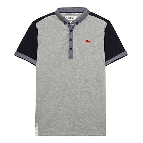 J by Jasper Conran - Designer boy+s grey panelled polo shirt