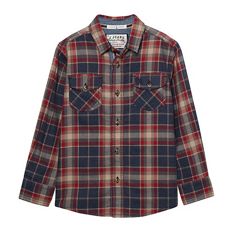 J by Jasper Conran - Boy+s multi twill check shirt