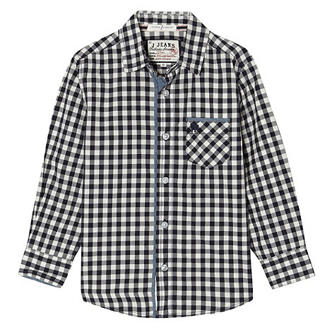 J by Jasper Conran - Boy+s navy checked shirt