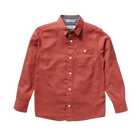 J by Jasper Conran - Boy+s red chambray shirt
