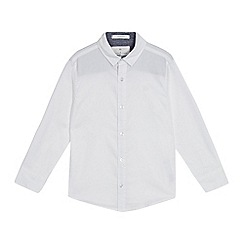 J by Jasper Conran - Boys' white textured striped shirt