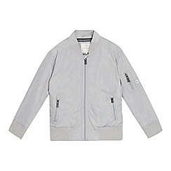 J by Jasper Conran - Boys' grey bomber jacket