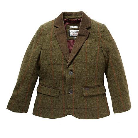 J by Jasper Conran - Designer boy+s green checked blazer