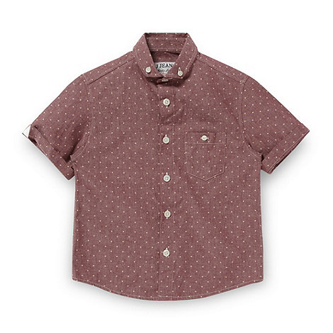 J by Jasper Conran - Designer boy+s dark red spotted shirt