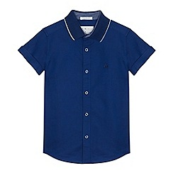 J by Jasper Conran - Boys' blue textured shirt