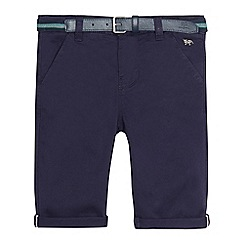 J by Jasper Conran - Boys' navy belted chino shorts