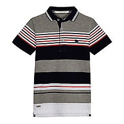 J by Jasper Conran - Boys' grey pique stripe polo shirt