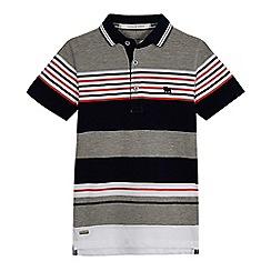 J by Jasper Conran - Boys' grey pique stripe polo shirt