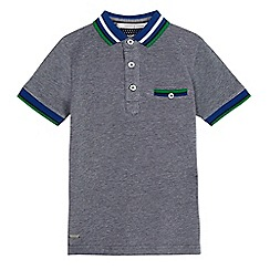 J by Jasper Conran - Boys' blue contrast collar polo shirt