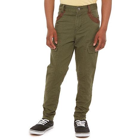 RJR.John Rocha - Boy+s olive skinny combat trousers