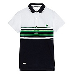 J by Jasper Conran - Boys' green striped polo shirt