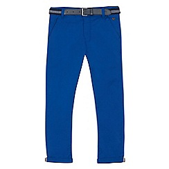 J by Jasper Conran - Boys' blue stretch belted slim chinos