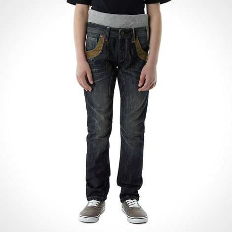 RJR.John Rocha - Boy+s blue leather trimmed jeans