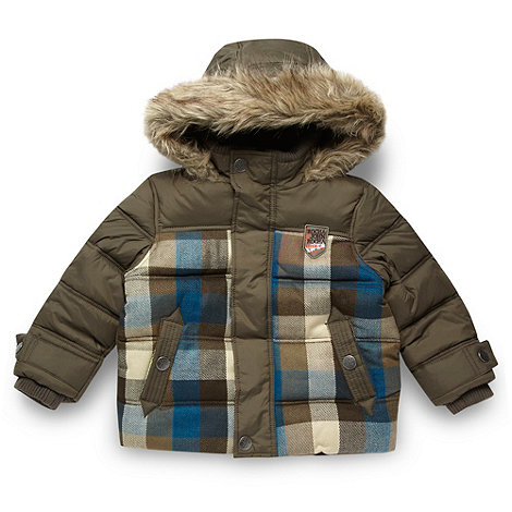RJR.John Rocha - Designer boy+s khaki checked jacket