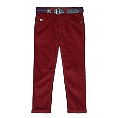 J by Jasper Conran - Boys' dark red slim fit cord trousers