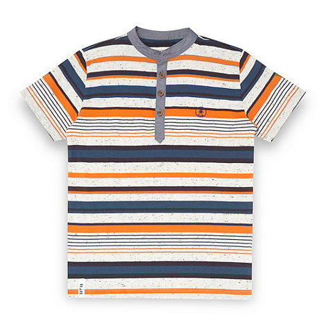 RJR.John Rocha - Designer boy+s beige flecked multi striped t-shirt