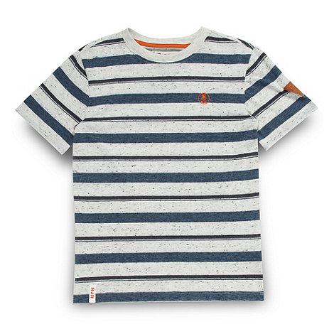 RJR.John Rocha - Designer boy+s blue striped t-shirt