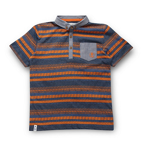 RJR.John Rocha - Designer boy+s navy tribal polo shirt