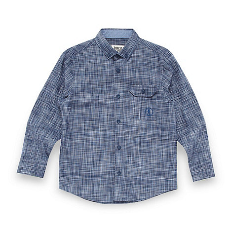 RJR.John Rocha - Designer boy+s blue space dye checked shirt