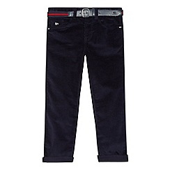 J by Jasper Conran - Boys' navy slim fit corduroy trousers