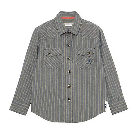RJR.John Rocha - Boy+s grey striped denim shirt