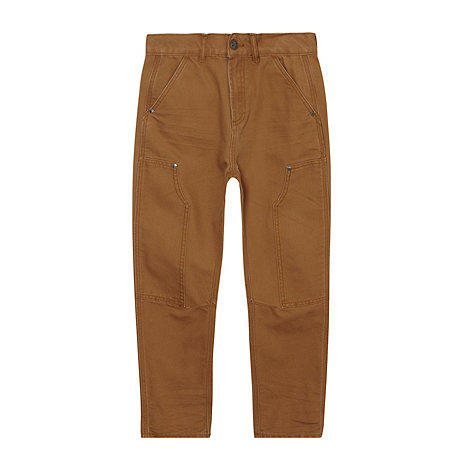 RJR.John Rocha - Boy+s brown casual carrot trousers