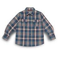 Designer boy's blue checked shirt