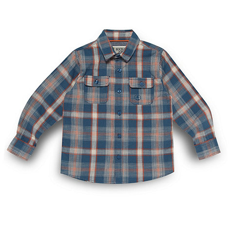 RJR.John Rocha - Designer boy+s blue checked shirt