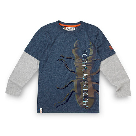 RJR.John Rocha - Designer boy+s blue bug print long sleeved top