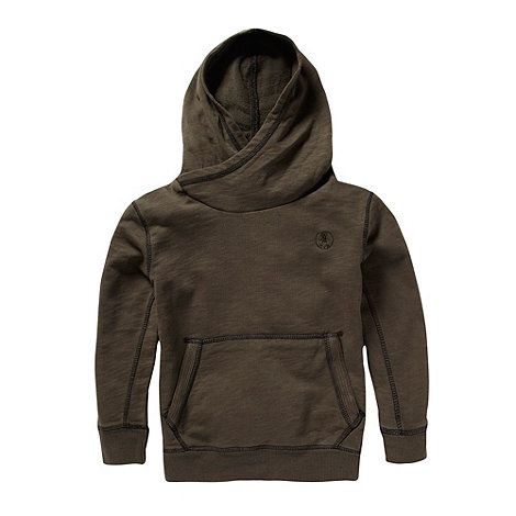 RJR.John Rocha - Boy+s brown cross neck sweat hoodie