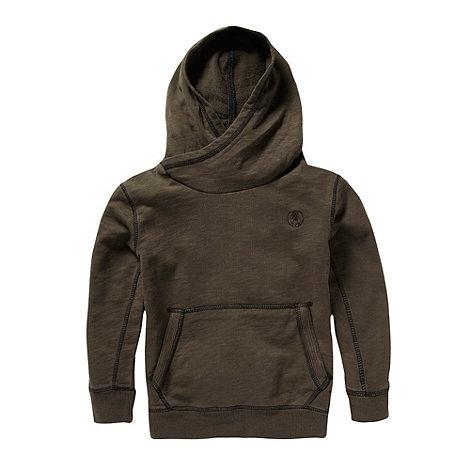 RJR.John Rocha - Boy+s brown cross neck sweat hoodie