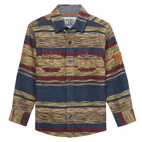 RJR.John Rocha - Boy+s multi horizontal striped shirt